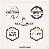 Set of vector emblems for marking handicrafts — Stock Vector
