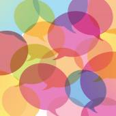 Background of colorful speech bubbles — Wektor stockowy