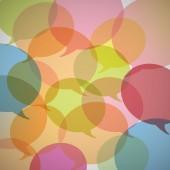 Background of colorful speech bubbles — Stockvektor