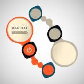 Abstracte vorm infographics — Stockvector