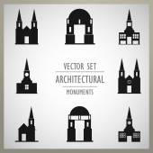 Architectural monuments old Europe — Stock Vector