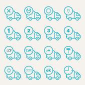 Ikonen för fordon leverans — Stockvektor