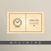 Simple stylish pixel clock icon. — Stock Vector