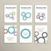 设置矢量彩色设计和概念齿轮 — 图库矢量图片