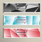 Set of banner for design in abstract style — Stock Vector