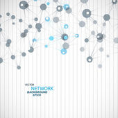 Vector network connection and DNA eps 10 — Stock Vector