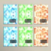 Conjunto simples abstrato dos quadrados coloridos — Vetor de Stock