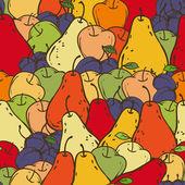 Bezešvé vzor ovoce — Stock vektor