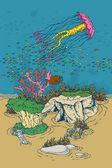 Mondo subacqueo — Vettoriale Stock