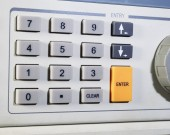 Numbers on panel device  — Stock Photo