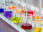 Colorful dye in mixing process — Stock Photo