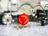 Resistor component on circuit diagram — Stock Photo