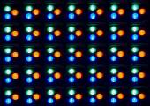 Close up of LED component in Panel — Stock Photo