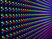Selective focus of LED on panel, — Stock Photo