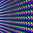 Red, green, blue of LED diod on panel — Stock Photo #56430051