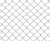 Mesh of steel wires isolated on white — Stock Photo