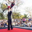 ������, ������: Action of performer in Bangkok street show 2014