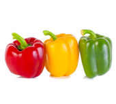 Bell peppers isolated on white  — Stock Photo
