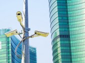 Cctv installed on the pole — Fotografia Stock