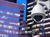 Cctv installed outdoor in front of the building — Fotografia Stock