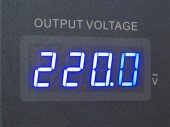 Voltage output of measurement  — 图库照片