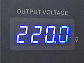 Voltage output of measurement  — Stock Photo