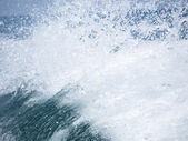 Splash of the clear sea water — Stock Photo