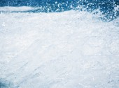 Splash of the clear sea water in high speed photo — Stock Photo