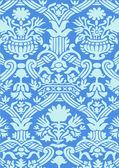 Azul abstrato floral vintage de fundo — Vetor de Stock