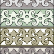 5 Set of decorative borders vintage style silver — Stock Vector #74905911