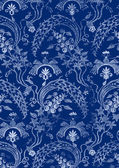 Abstract hand-drawn floral seamless pattern, vintage background — Cтоковый вектор