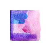 Struttura di vernice a mano dell'acquerello astratto variopinto di vettore isolato su contesto strutturato dell'acquerello su fondo bianco — Vettoriale Stock
