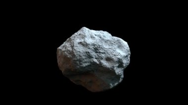 High detailed rotating asteroid — Stock Video