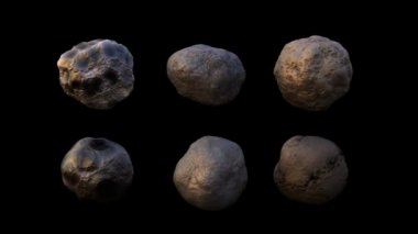 4k high detailed rotating asteroid — Stock Video