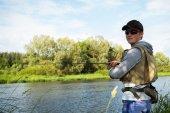 Man fishing — Stockfoto