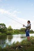 钓鱼的人 — 图库照片