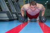 Adam jimnastik salonu. — Stok fotoğraf