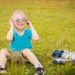 Young boy wearing sunglasses. — Stock Photo #53607431