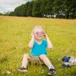 Young boy wearing sunglasses. — Stock Photo #53607487
