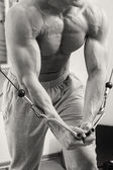 Mannen i gymmet — Stockfoto