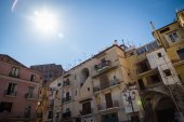 View of the streets town of Sorrento — Stock Photo