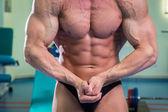 Muscular man bodybuilder — Foto de Stock