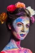 Model with colorful make-up — Stock Photo