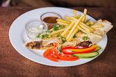 Shawarma with fries potato — Stock Photo