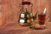 Tea ceremony in oriental style — Stock Photo