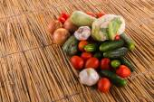 Pile of Organic vegetables — Stock Photo