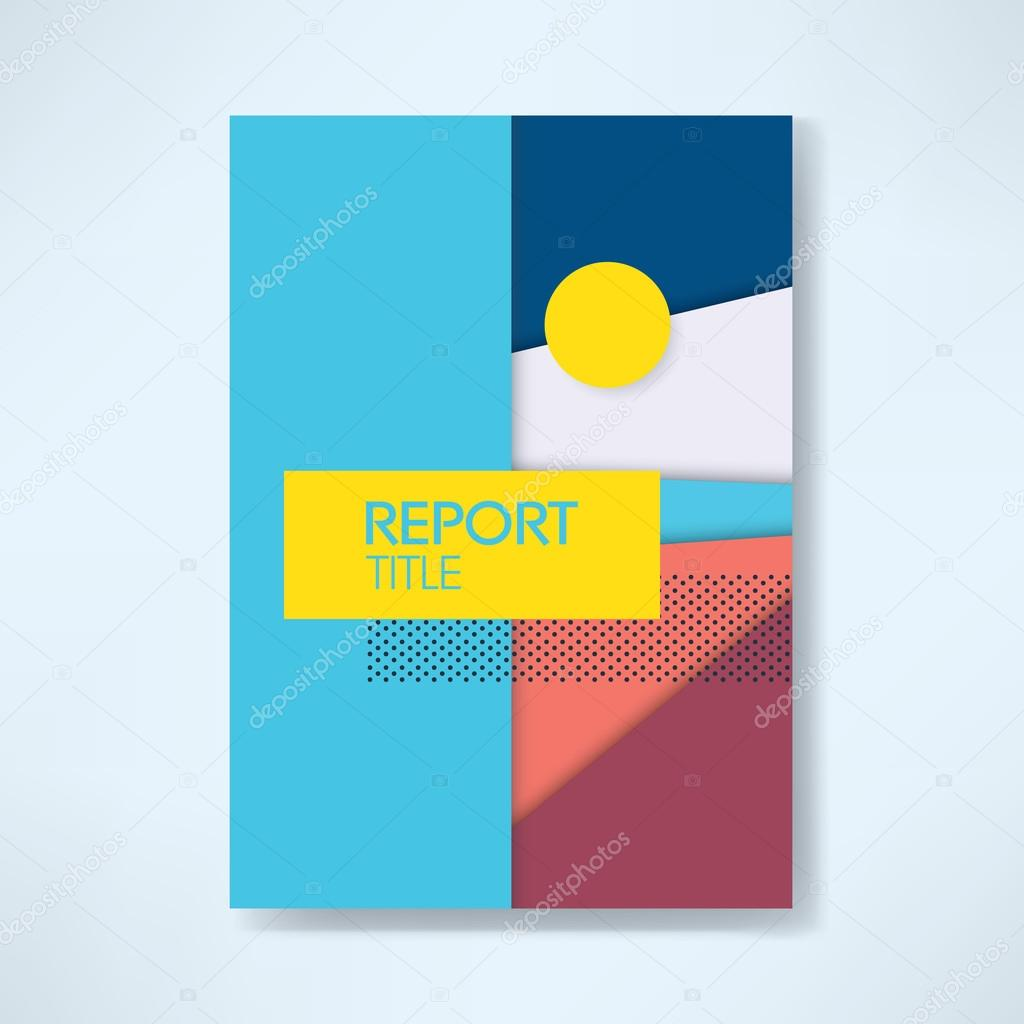 annual business report cover template modern material design annual business report cover template modern material design style vector background eps10 vector illustration vector by micicj