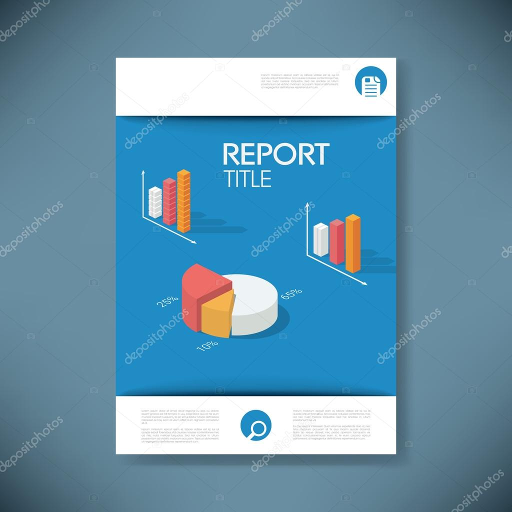 report cover template for business presentation or brochure pie report cover template for business presentation or brochure pie chart and other graphs infographics elements