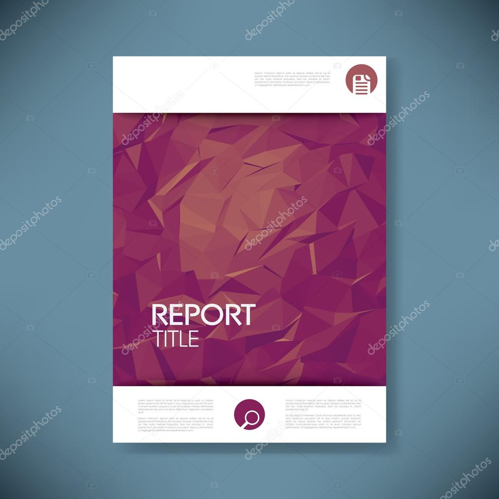 report cover template d low poly vector background business report cover template 3d low poly vector background business brochure or presentation title page