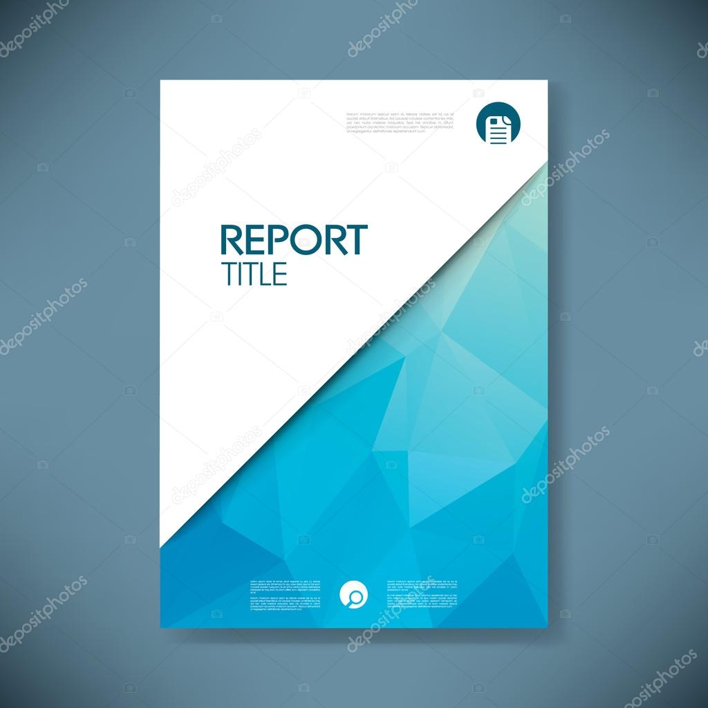 Business Report Cover With Low Poly Design Vector
